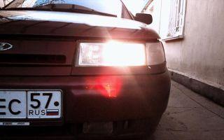 Виды и замена лампы ближнего света на ВАЗ 2110 и 2112