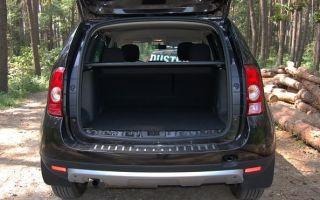 Объем и размеры багажника внедорожника Рено Дастера
