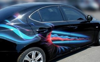 Особенности нанесения красок для аэрографии на машину
