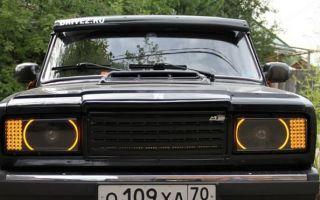 Все виды тюнинга передних фар и задних фонарей на ВАЗ 2107