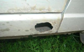 От А до Я: как заделать дырку в пороге автомобиля без сварки