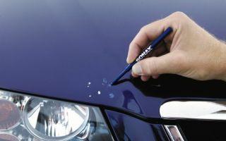 Как выбрать и использовать карандаш для удаления царапин или сколов