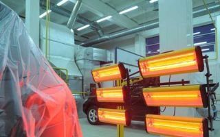 ТОП 3 лучших инфракрасных лампы для сушки авто после покраски