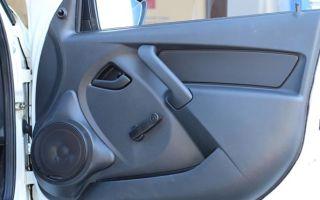 Особенности установки динамиков в передние двери машины Лада Гранта