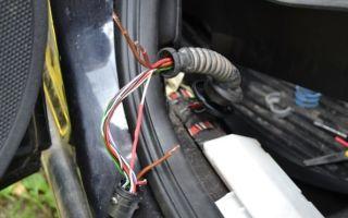 Ремонт проводки в задней двери Opel Astra H