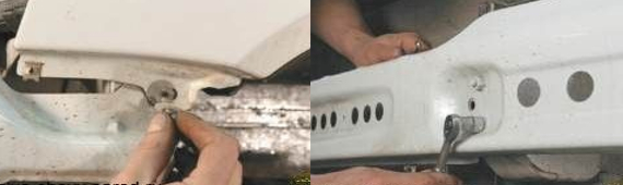 Демонтаж переднего бампера 6