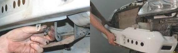Демонтаж переднего бампера 7