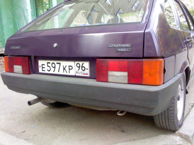 замена заднего бампера на ВАЗ 2109