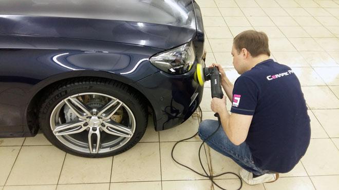 полировка машины