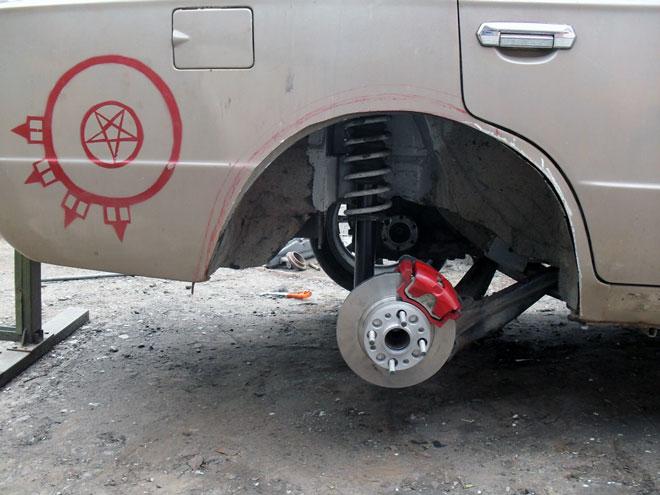 задние дисковые тормоза ВАЗ 2106