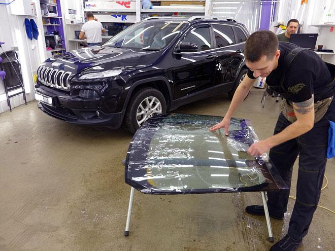 подготовка-брони-для-стекла-авто