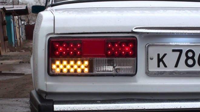 Светодиодные задние фонари ВАЗ 2107