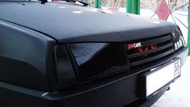 Тонировка фар автомобиля при помощи пленки