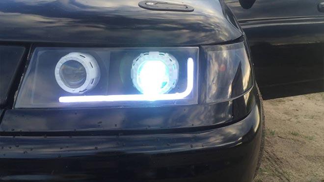 Тюнингованная LED-фара ВАЗ