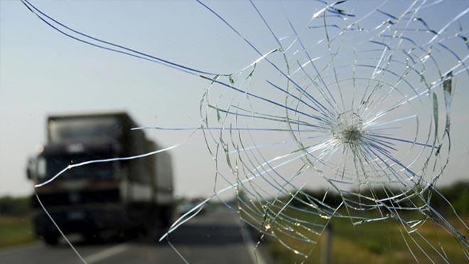 Лучеобразный дефект на автостекле