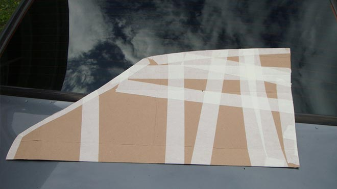 Макет окна для вырезания шаблона