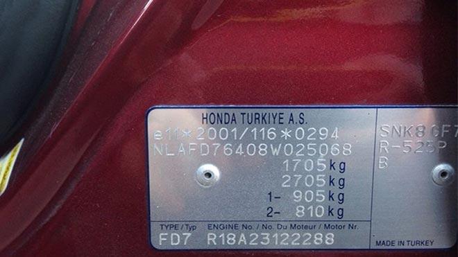 Кодировка на борту Хонды