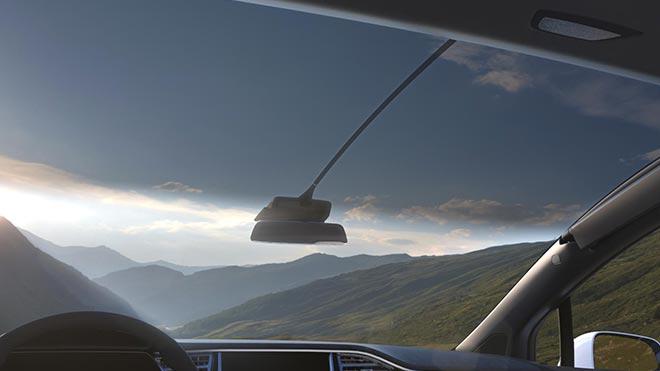Панорамный вид из кабины