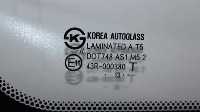 Маркировка корейского окна
