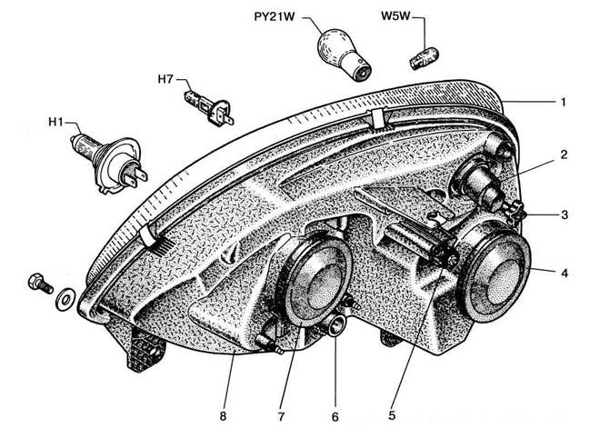 Конструкция светового модуля