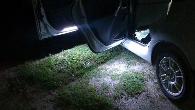 Свет из салона авто
