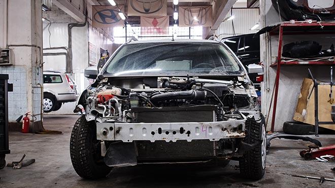 Машина в ремонте